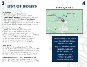 List of Homes on the Holiday Light Tour